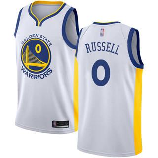 Men's Warriors #0 D'Angelo Russell White Basketball Swingman Association Edition Jersey