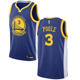 Men's Warriors #3 Jordan Poole Blue Basketball Swingman Icon Edition Jersey