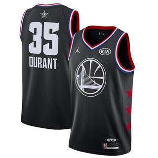 Men's Warriors #35 Kevin Durant Black Basketball Jordan Swingman 2019 All-Star Game Jersey