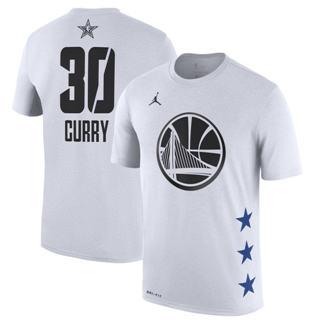 Men's Warriors 30 Stephen Curry White 2019 Basketball All-Star Game T-Shirt