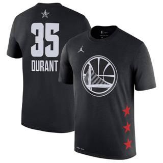 Men's Warriors 35 Kevin Durant Black 2019 Basketball All-Star Game T-Shirt