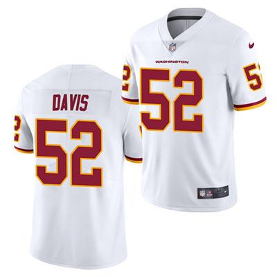 Men's Washington Football Team #52 Jamin Davis White 2021 Football Draft Limited Stitched Jersey