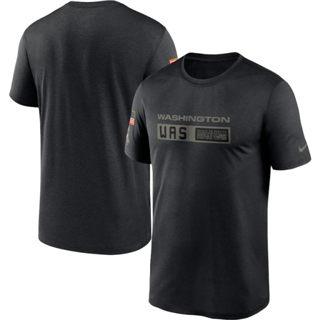 Men's Washington Football Team 2020 Salute to Service Team Logo Performance T-Shirt Black