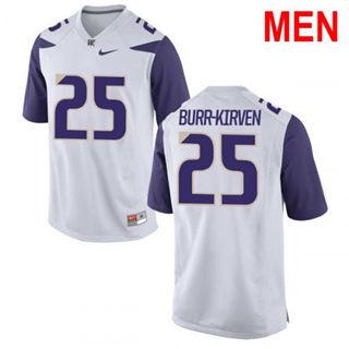 Men's Washington Huskies #25 Ben Burr-Kirven White Football Jersey