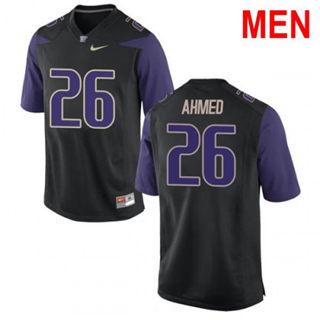 Men's Washington Huskies #26 Salvon Ahmed Black Football Jersey