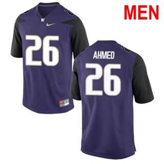 Men's Washington Huskies #26 Salvon Ahmed Purple Football Jersey