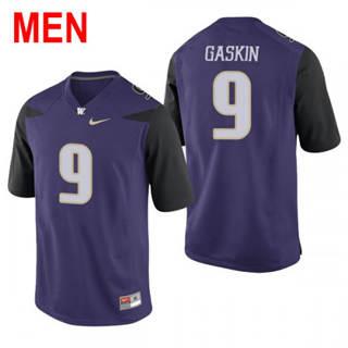 Men's Washington Huskies #9 Myles Gaskin Purple Football Jersey