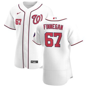 Men's Washington Nationals #67 Kyle Finnegan White Home 2020 Authentic Player Baseball Jersey