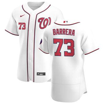 Men's Washington Nationals #73 Tres Barrera White Home 2020 Authentic Player Baseball Jersey