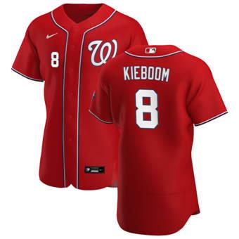 Men's Washington Nationals #8 Carter Kieboom Red Alternate 2020 Authentic Player Baseball Jersey