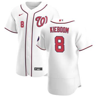 Men's Washington Nationals #8 Carter Kieboom White Home 2020 Authentic Player Baseball Jersey
