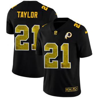Men's Washington Redskins #21 Sean Taylor Black Golden Sequin Vapor Limited Football Jersey