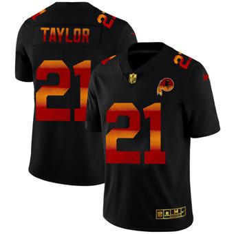 Men's Washington Redskins #21 Sean Taylor Black Red Orange Stripe Vapor Limited Football Jersey