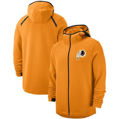 Men's Washington Redskins Team Logo Full-Zip Pullover Hoodie - Gold