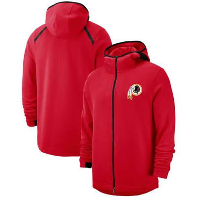 Men's Washington Redskins Team Logo Full-Zip Pullover Hoodie - Red