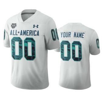 Men's White Custom Jersey 2020 All-America Football Game