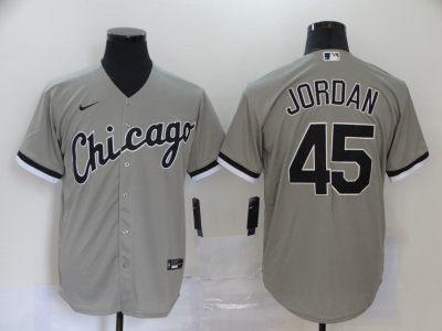 Men's White Sox #45 Michael Jordan Gray 2020 Baseball Cool Base Jersey