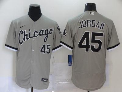 Men's White Sox #45 Michael Jordan Gray 2020 Baseball Flexbase Jersey