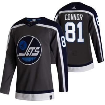 Men's Winnipeg Jets #81 Kyle Connor Black 2020-21 Reverse Retro Alternate Hockey Jersey