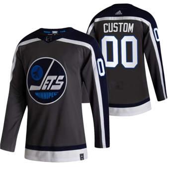Men's Winnipeg Jets Custom Black 2020-21 Alternate Authentic Player Hockey Jersey