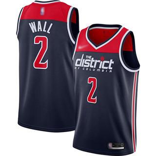 Men's Wizards #2 John Wall Navy Blue Basketball Swingman Statement Edition 2019-2020 Jersey