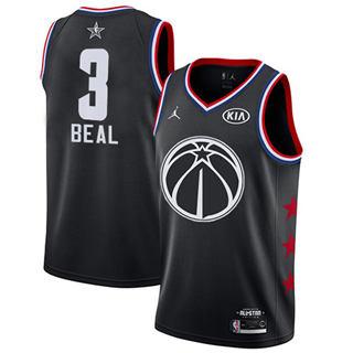 Men's Wizards #3 Bradley Beal Black Basketball Jordan Swingman 2019 All-Star Game Jersey