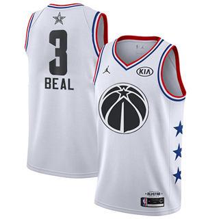 Men's Wizards #3 Bradley Beal White Basketball Jordan Swingman 2019 All-Star Game Jersey