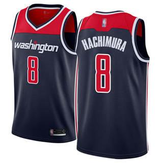 Men's Wizards #8 Rui Hachimura Navy Blue Basketball Swingman Statement Edition Jersey