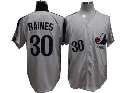 Montreal Expos 30 Tim Raines 1982 Mitchell Ness Jerseys white