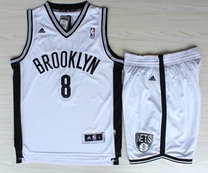 Basketball Brooklyn Nets Jersey 8 Deron Williams White Revolution 30 Swingman Jerseys Shorts Basketball Suits