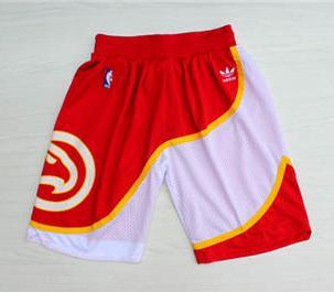 Basketball Hawks Red Hardwood Classics Shorts