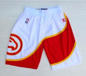 Basketball Hawks White Hardwood Classics Shorts