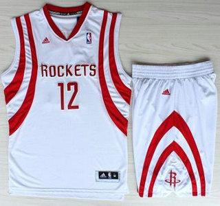 Basketball Houston Rockets Jersey #12 Dwight Howard White Revolution 30 Swingman Basketball Jerseys Shorts Suits