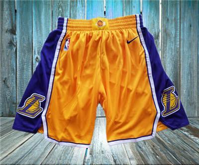 Basketball Lakers Yellow  Swingman Shorts