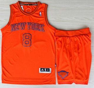 Basketball New York Knicks Jersey 8 JR Smith Orange Revolution 30 Swingman Basketball Jerseys Shorts Suits Christmas Style