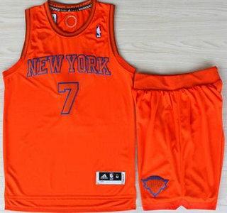 Basketball New York Knicks Jerseys 7 Carmelo Anthony Orange Revolution 30 Swingman Basketball Jerseys Shorts Suits Christmas Style