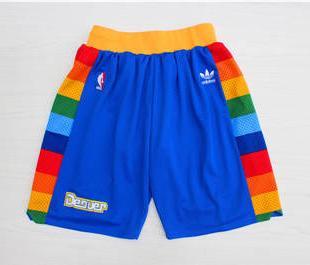 Basketball Nuggets Blue Hardwood Classics Shorts