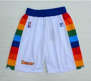Basketball Nuggets White Hardwood Classics Shorts