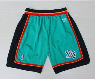 Basketball Pistons Green Hardwood Classics Shorts
