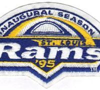 Football 1995 St. Louis Rams Inaugural Football Season Jersey Patch