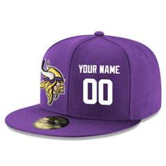 Football Minnesota Vikings Customized Stitched Snapback Adjustable Player