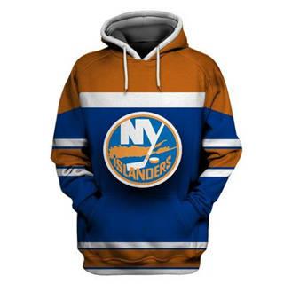 New York Islanders Blue All Stitched Hooded Sweatshirt