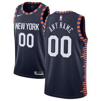 New York Knicks  2018-19 Swingman Custom Jersey - City Edition - Navy