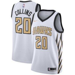 Atlanta Hawks #20 John Collins 2018-19 Swingman Basketball New City Edition Jersey White
