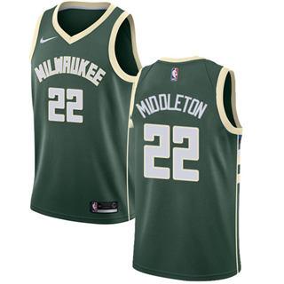 Bucks #22 Khris Middleton Green Basketball Swingman Icon Edition Jersey