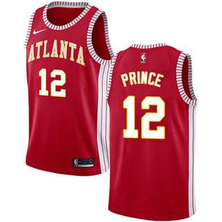 Hawks #12 Taurean Prince Red Basketball Swingman Statement Edition Jersey