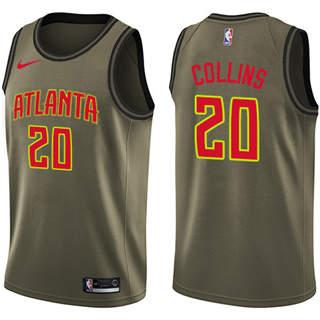Hawks #20 John Collins Green Basketball Swingman Salute to Service Jersey