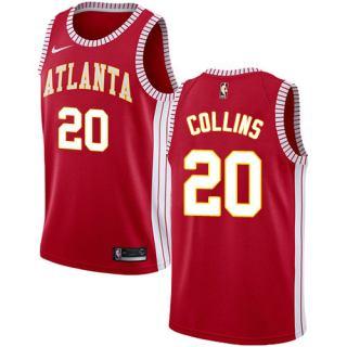 Hawks #20 John Collins Red Basketball Swingman Statement Edition Jersey