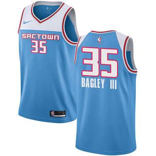 Kings #35 Marvin Bagley III Blue 2018-19 Swingman Basketball New City Edition Jersey