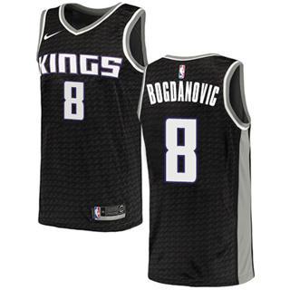 Kings #8 Bogdan Bogdanovic Black Basketball Swingman Statement Edition Jersey